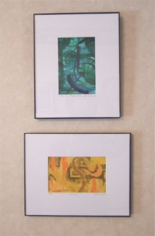 Green Contemplation and Yellow, prints, Donna R. C., Massachusetts